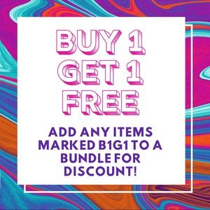 Add items marked B1G1 to bundle for discount.